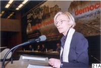 Emma Bonino, alla tribuna del 38° Congresso del PR.