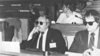 Congresso di fondazione della LIA (Lega Internazionale Antiproibizionista) nell'auletta dei gruppi parlamentari a Roma. Randall (BN)