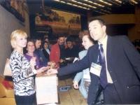 38° Congresso del PR. Vincenzina Antonelli, Paola D'Aguanno e Marco Perduca. In secondo piano: Olivia Ratti.