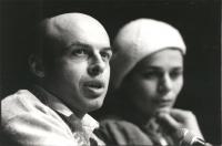 Conferenza stampa del dissidente sovietico Anatoly Chtcharanski (Sharanski) ricevuto dal presidente di Israele Herzog. Per lui il PR ha condotto una b