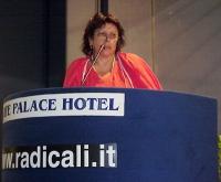 Silvana Bononcini interviene al Primo Congresso dei Radicali Italiani.
