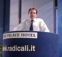 Marco Beltrandi interviene al Primo Congresso dei Radicali Italiani.