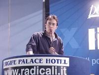 Michele Capano interviene al Primo Congresso dei Radicali Italiani.