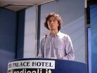 Diego Galli interviene al Primo Congresso dei Radicali Italiani.