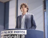 Marco Cappato interviene al Primo Congresso dei Radicali Italiani.