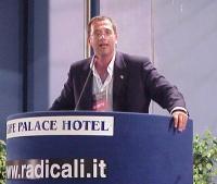 Maurizio Bolognetti interviene al Primo Congresso dei Radicali Italiani.