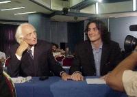 Marco Pannella e Matteo Angioli, al Primo Congresso dei Radicali Italiani.