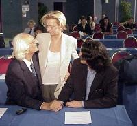 Marco Pannella, Emma Bonino e Matteo Angioli al Primo Congresso dei Radicali Italiani.
