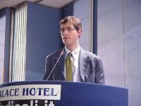Daniele Capezzone al Primo Congresso dei Radicali Italiani.