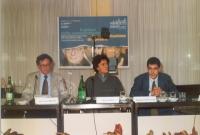 """Convegno: """"Il potere della comunicazione la comunicazione del potere"""", presso l'ex hotel Bologna.. Al tavolo: Rolando Marini, Diego Galli, Daniele Cap"""