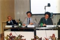 """Convegno: """"Il potere della comunicazione la comunicazione del potere"""", presso l'ex hotel Bologna. Al tavolo: Giuseppe Rossodivita, Rolando Marini, Die"""