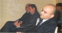 """In primo piano: Giuseppe Rossodivita, avvocato (durante il convegno: """"Il potere della comunicazione la comunicazione del potere"""")."""