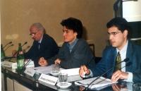 """Jader Jacobelli, Diego Galli, Daniele Capezzone, al convegno: """"Il potere della comunicazione la comunicazione del potere""""."""