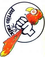 VIGNETTA La rosa del simbolo radicale strozza un pappagallo (riferimento alla trasmissione Portobello condotta da Enzo Tortora). (Vignetta pubblicata