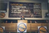 Seconda Assemblea dei Mille. Marco Pannella alla tribuna.