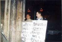 Ignazio Marcozzi Rozzi e Gaetano Dentamaro partecipano al walk around per il ripristino della legalità costituzionale (e cioè del plenum) alla Camera
