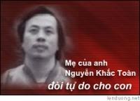 Nguyen Khac Toan, dissidente politico arrestato in Vietnam.