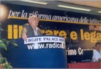 Angiolo Bandinelli interviene al Primo Congresso dei Radicali Italiani.
