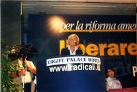 Emma Bonino interviene al Primo Congresso dei Radicali Italiani.