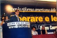 Daniele Capezzone interviene al Primo Congresso dei Radicali Italiani.