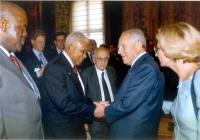 Il presidente della Repubblica Carlo Azeglio Ciampi riceve al Quirinale partecipanti al convegno organizzato dal ministero degli Esteri e da 'Non c'è