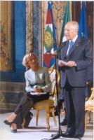 Emma Bonino e il presidente della Repubblica Carlo Azeglio Ciampi. (Ciampi riceve al Quirinale partecipanti al convegno organizzato dal ministero degl