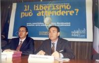 """Benedetto della Vedova e Lorenzo Infantino, Ordinario di Filosofia delle scienze sociali, Università Luiss, partecipano al convegno: """"Un anno di polit"""