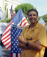 Giorgio Pagano partecipa alla manifestazione-conferenza stampa, nell'anniversario della strage del World Trade Center, davanti alla moschea di Roma.