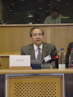 "Conferenza al Parlamento Europeo: ""South-East Asia Democracy Denied Freedoms Suppresses. The situation in Burma, Laos and Vietnam "". Vo Van Ai, Presid"