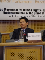 "Conferenza al Parlamento Europeo: ""South-East Asia Democracy Denied Freedoms Suppresses. The situation in Burma, Laos and Vietnam "". Souksaveui Chanth"