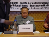 "Conferenza al Parlamento Europeo: ""South-East Asia Democracy Denied Freedoms Suppresses. The situation in Burma, Laos and Vietnam "". Sulak Sivaraksa,"