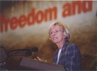 38° Congresso del PR. Emma Bonino alla tribuna.