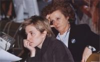 38° Congresso del PR. Maria Carmen Colitti (in primo piano) e Olivia Ratti (in secondo piano).