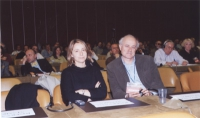 38° Congresso del PR. In platea: Elisabetta Zamparutti e Sergio D'Elia.