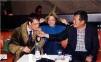 38° Congresso del PR. Olivier Dupuis e Wei Jingsheng. Al centro: ???