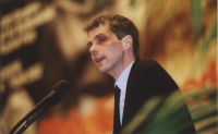 38° Congresso del PR. Olivier Dupuis alla tribuna.