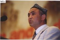 38° Congresso del PR. Enver Can, presidente del Congresso Nazionale dell'East Turkestan.