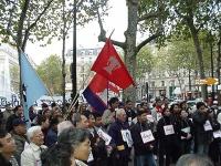 """Manifestazione in occasione del terzo anniversario del """"Movimento del 26 ottobre 1999"""", data di una manifestazione nel Laos per la libertà e la democr"""
