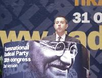 38° Congresso, II sessione. Marco Perduca alla tribuna.