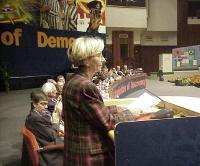 38° Congresso, II sessione. Interviene Emma Bonino.