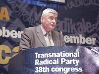 38° Congresso, II sessione. Dashamir Shehi, presidente della Commissione Difesa del parlamento albanese.