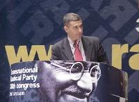 38° Congresso, II sessione. Alfonso Pecoraro Scanio, presidente dei Verdi Italiani.