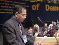 38° Congresso, II sessione. Kok Ksor, Montagnard Foundation. Alla presidenza: Daniele Capezzone, Marco Pannella, Benedetto Della Vedova, Emma Bonino,