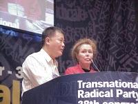 38° Congresso del PR, II sessione. Wei Jingsheng e Marie Holzman.