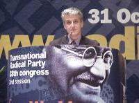 38° Congresso, II sessione. Pandeli Majko, ministro della Difesa albanese, iscritto al PR.