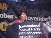 """38° Congresso, II sessione. Shoukria Haidar, presidente dell'Associazione """"NEGAR""""."""