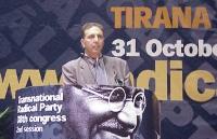 38° Congresso del PR, II sessione. Giorgio Pagano, segretario dell'associazione radicale esperantista.