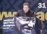 38° Congresso del PR, II sessione. Marc Daugherty, giornalista del Jerusalem Post.