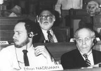 Congresso di fondazione della LIA (Lega Internazionale Antiproibizionista) nell'auletta dei gruppi parlamentari a Roma. Ethan Nadelman ((direttore del