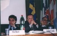 Convegno: PENSIONI UNA BOMBA AD OROLOGERIA promosso dalla Lista Bonino presso la Sala delle Bandiere (Parlamento Europeo). Tito Boeri, Giuliano Cazzol